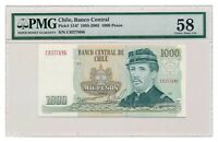 CHILE banknote 1000 Pesos 1980 PMG AU 58 Choice About Uncirculated grade