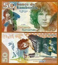 Kamberra, 50 Numismas, 2021, UNC > Jim Morrison, 50th anniversary of death