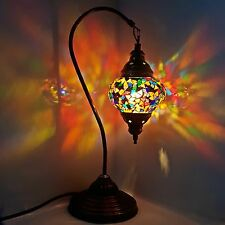 Turkish Marocain coloré Lampe Lumière Tiffany Bureau En Verre Table - GB