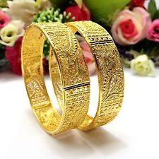 INDIAN Asiatico Taglia: 2.6 Abiti da Sposa Pakistano Gioielli Placcato Oro 22ct Bracciali
