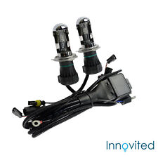 Innovited 35W HID H4-3 9003 3000K Bi xenon Hi/Lo Replacement Bulbs With Harness