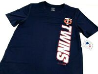 Youth Minnesota Twins T-Shirt Wicking Size L or XL Blue MLB Short Sleeve New NWT