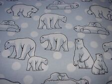 Flannelette Fitted Artic Chill Bears Blue Cot Sheet Handmade