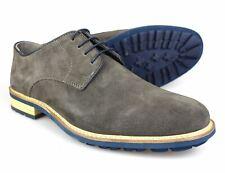 Plata Street Stanyon Gris/Azul Zapatos De Gamuza Para Hombre Formal