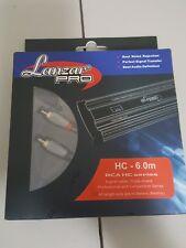 LANZAR PRO  HC-6.0M TWO CHANNELS AUDIO RCA CABLES 6 METERS
