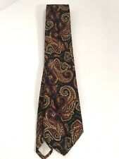 """BROOKS BROTHERS """"MAKERS"""" TIE VINTAGE PAISLEY 100% SILK Made In USA!"""