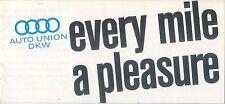 Auto Union DKW Range 1961-62 Original UK Sales Brochure Junior1000 S SP Munga