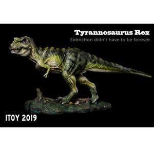 ITOY Studio Tyrannosaurus Statue T Rex (green) Dinosaur Model BNIB