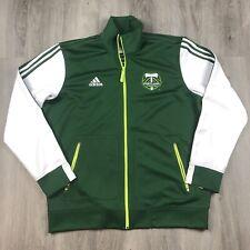 PORTLAND TIMBERS ADIDAS MLS Soccer Jacket Size XL Full Zip. Green. Spellout.