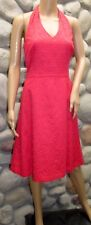 NWT Gorgeous Ann Taylor Lined Embroidered Coral Halter Dress Size 2