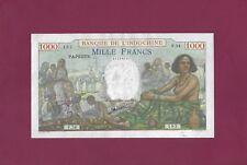 TAHITI - Papeete - BANK DE INDOCHINA 1000 Francs 1940 - 1957  P-15 VF+