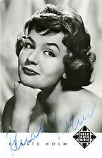 Renate HOLM Autographe OPERA Autograph Autogramm DEDICACE PHOTO SIGNEE signed