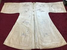 BEAUTIFUL ANTIQUE/ VINTAGE CHINESE EMBROIDERED SILK ROBE COAT FINE EMBROIDERY!