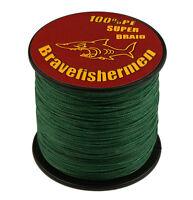 Dark Green 8 Strand Braid 100-1000M 6-300LB 100% PE Super Strong Fishing Line