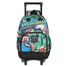Minecraft gaming video game school backpack bag elementary children kids wheels