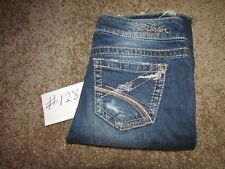 Women's Silver Frances 22 Flare Blue Jeans Distressed W26 Flare Boot Mid Worn
