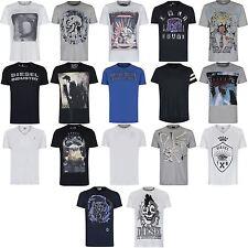 Diesel Cotton V Neck Basic T-Shirts for Men