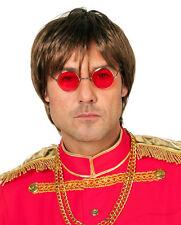 Hippie Brille John Lennon rot NEU - Zubehör Accessoire Karneval Fasching