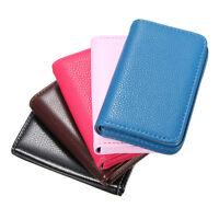 Leather Business Credit ID Card Holder Wallet Storage Money Pocket Case Bag
