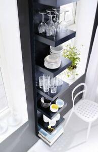 """IKEA LACK Wall shelf unit, Black-Brown 11 3/4x74 3/4 """" BRAND NEW, FAST SHIPPING"""