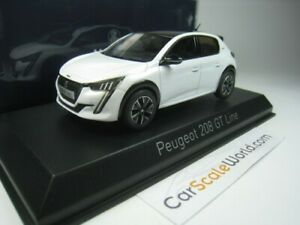 PEUGEOT 208 GT 2019 1/43 NOREV (PEARL WHITE)