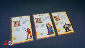 Heroquest Character Cards Incomplete MB Games games Workshop