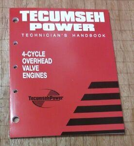 TECUMSEH 740043 695244A SHOP TECHNICIAN REPAIR MANUAL OVER HEAD VALVE OHV