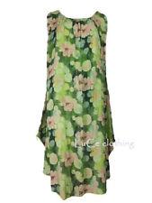 NEW Womens Floral Print Italian Sleeveless Cotton Ladies Plus Size Tunic Dress