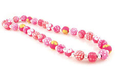 Viva Beads SIMPLY PINK Chunky Silver Ball Necklace