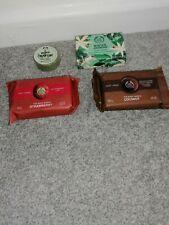 The Body Shop Soap Bundle X4 - Hemp, Winter Jasmine, Strawberry, Coconut