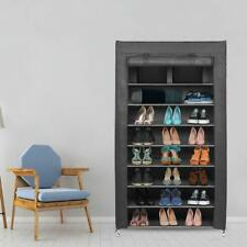 Armoire à Chaussures Etagères de Rangement Armoir en Tissus Range Chaussures