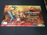 Zelda Hyrule Warriors Age of Calamity Display Promo Poster Nintendo Switch 28x48