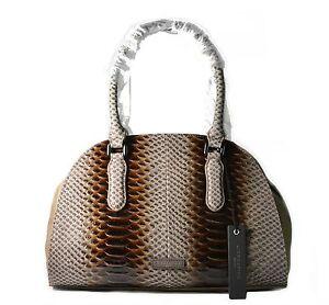 Liebeskind Berlin Handbags Jule Slack Python Embossed Leather New Stone (Brown)