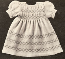 Vintage Knitting PATTERN Baby Infant Dress 6 mos-1year