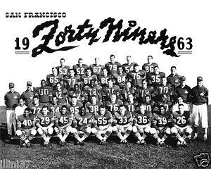 1963 SAN FRANCISCO 49ERS NFL FOOTBALL TEAM  8X10 PHOTO