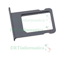 CARRELLO PORTA SIM CART CARRELLINO SIM IPHONE 5 NERO BLACK