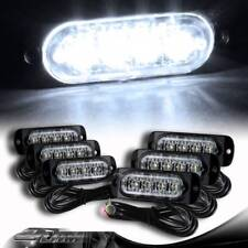 6X Super Bright 4-LED White Emergency Flash Warn Beacon Strobe Light Universal 1