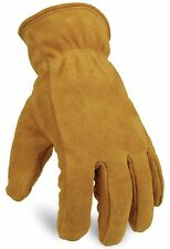 OZERO Insulated Gloves Cold Proof Leather Winter Work Glove Thick (Medium|Gold)