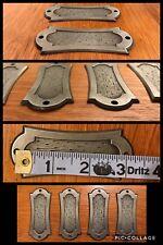 6 Backplates Handles Pulls Silver Tone Medieval Vintage Cabinet Drawer Allison