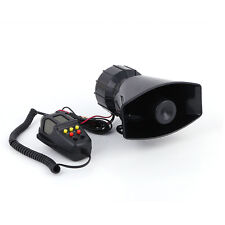 New 5 Sound Loud Car Warning Alarm Police Fire Siren Horn PA Speaker MIC System