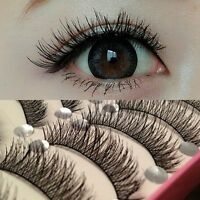 Hot 10X Makeup Long Thick Cross Beauty False Eyelashes Eye Lashes Extension HS7