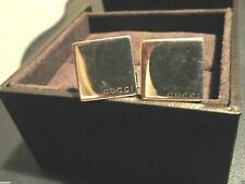 GUCCI Sterling Silver Square CUFFLINKS - Made in Italy 925  *AUTHENTIC*