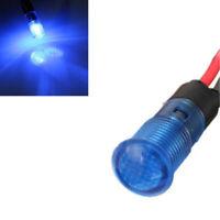 12V 8mm Car Boat Van LED Indicator Pilot Dash Dashboard Panel Warning Lamp Blue