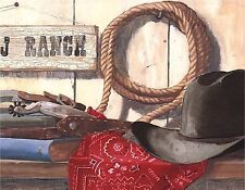 COWBOY GEAR RANCH MOUSE PAD  IMAGE FABRIC TOP RUBBER BACKED