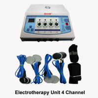 Portable Electric Stimulator 4channel Electrotherapy Physiotherapy Machine @KV