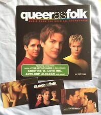 Queer As Folk Promo Lot 3 Postcards, 2 sided poster flat / Hal Sparks Soundtrack