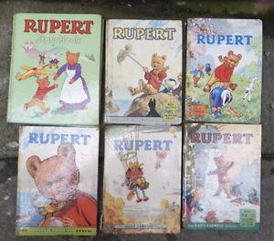 vintage rupert bear annuals.