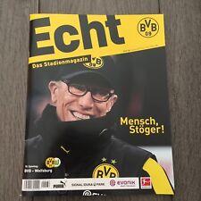 BVB*BORUSSIA DORTMUND*Stadionmagazin ECHT*Heft Nr. 136*BVB-Wolfsburg*Stöger
