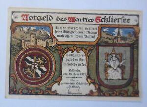 Notgeld des  Maktes Schliersee,  10 Pf,   15 Juni 1921  ♥