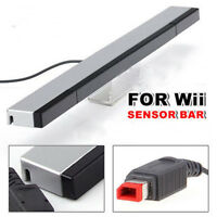 Wired Remote Infrared Ray IR Inductor Motion Sensor Bar for Nintendo Wii Gray